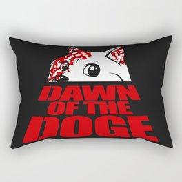 Dawn of the Doge Rectangular Pillow