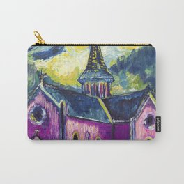 Pink church in Swiss Alps Carry-All Pouch