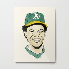 "Rickey ""The Man of Steal"" Henderson Metal Print"