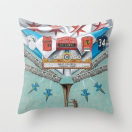 ChicaGo-Up Throw Pillow