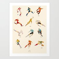 world cup Art Prints featuring WORLD CUP by rafael mayani