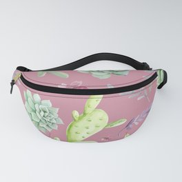 Cactus Watercolor Pattern 7 Fanny Pack