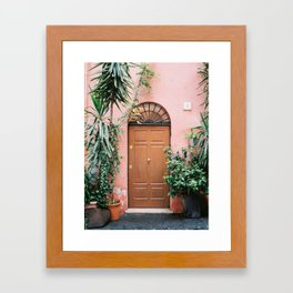 Front door of Rome | Travel photography Italy - pastel tones in Europe Framed Art Print