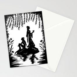 Lady White Snake Stationery Cards