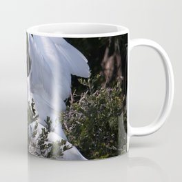 Egret Nest with Fledglings in Rookery Coffee Mug