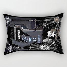 Broken, rupture, damaged, cracked black apple iPhone 4 5 5s 5c, ipad, pillow case and tshirt Rectangular Pillow