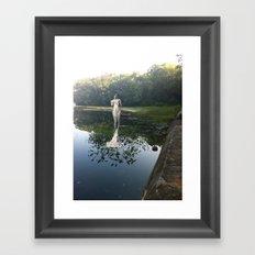 Gladys on Water Framed Art Print