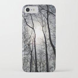 White Sky, Black Trees iPhone Case