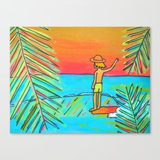 dreaming of tropical sliders hang 10 surf dude Canvas Print