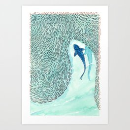 Tiger Shark Hunting Art Print