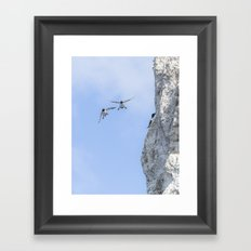 Aborted landing Framed Art Print