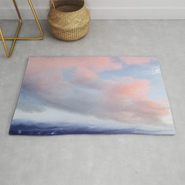 Walking through the clouds Rug