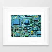 technology Framed Art Prints featuring Crowded Technology  by mark jones