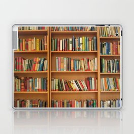 Bookshelf Books Library Bookworm Reading Laptop IPad Skin