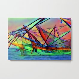 Ship Sail Metal Print
