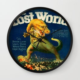 Vintage poster - The Lost World Wall Clock