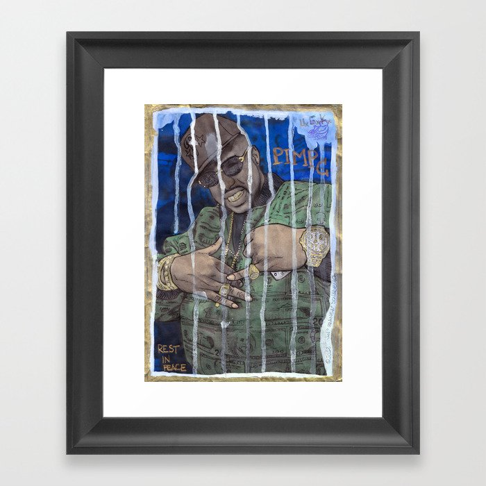 DEAD RAPPERS SERIES - Pimp C Framed Art Print