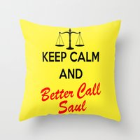 better call saul Throw Pillows featuring Better Call Saul by DeBUM
