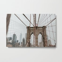 Brooklyn Bridge | Colourful Travel Photography | New York City, America (USA) Metal Print
