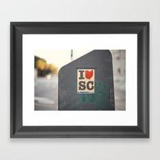 southern love::charleston Framed Art Print