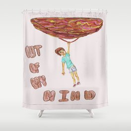 Out of My Mind Shower Curtain