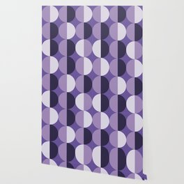 Retro circles grid purple Wallpaper