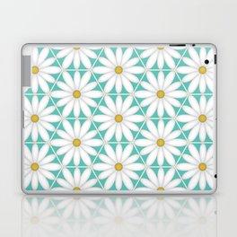 Daisy Hex - Turquoise Laptop & iPad Skin