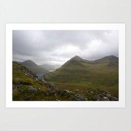 Faroe Islands landscrape Art Print