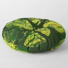 Green is the Tree Floor Pillow