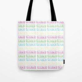 Pastel Lino Pattern Tote Bag