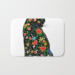 Portuguese Cat Folk Bath Mat