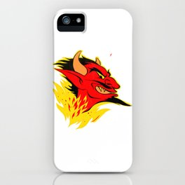 elDiablo Devil Head (Distressed) iPhone Case