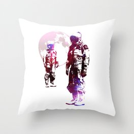 Space Men Throw Pillow