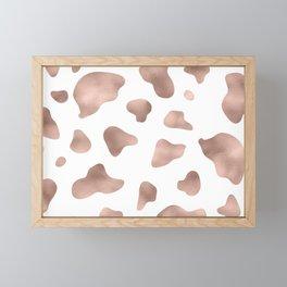 Rose gold cow print Framed Mini Art Print