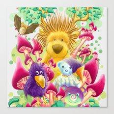 Moka, the magic lion Canvas Print