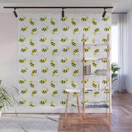 Bumble Bee Pattern Wall Mural