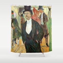 """Henri de Toulouse-Lautrec """"Monsieur Henri Fourcade au Bal de l'Opéra"""" Shower Curtain"""