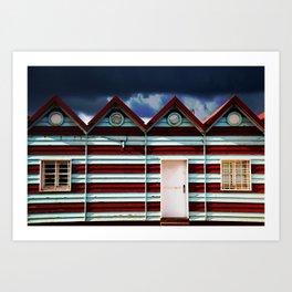 Cabane de plage. Art Print