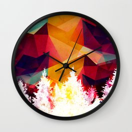 Forest made of color Wall Clock