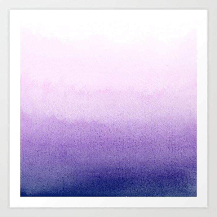 Purple Watercolor Design Kunstdrucke