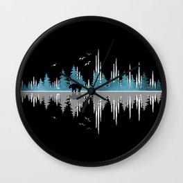 The Sounds Of Nature - Music Sound Wave Wall Clock