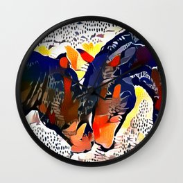 I Spotted Horses Wall Clock