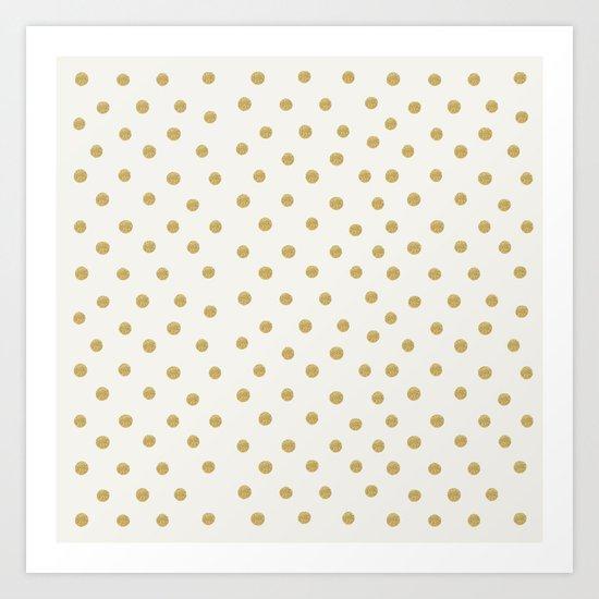 Gold Spots Art Print