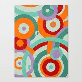 Colorful circles Canvas Print
