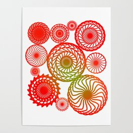 Red Circles - Sacred Geometry Abstract Art Poster