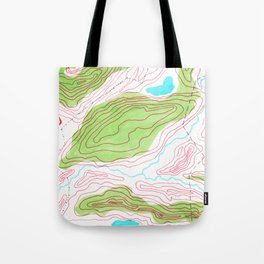 Let's go hiking - topographical map Tote Bag