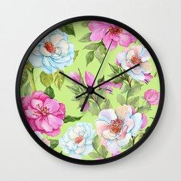 Vintage Floral Pattern No. 2 Wall Clock