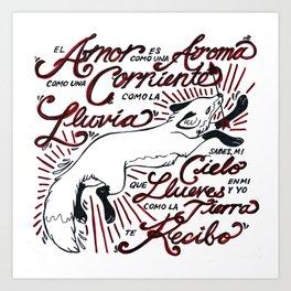 Te Recibo Art Print