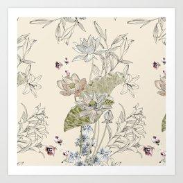 Lotus art Art Print