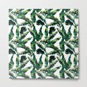 Banana Leaves Green on White by followmeinstead
